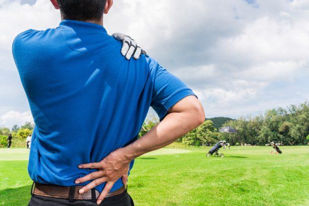 skador inom golf
